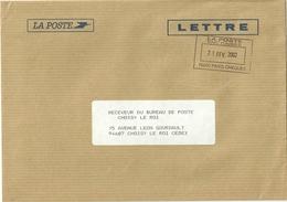 Lettre Poste Cheques Postaux Obliteration Du Service National De Change - Lettres Civiles En Franchise