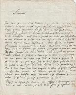 LETTRE REDIGEE EN 1788-PAR L'ARCHIPRETE DE LA PORCHERIE-DT 87--VOIR SCANNER ET DESCR-- - Manuscripten