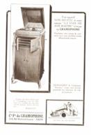 """PUB """" COMPAGNIE FRANCAISE De GRAMOPHONE   """" 1919 ( 10 ) - Autres"""