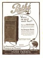 "PUB PATHEPHONE   "" PATHE ""    1919 ( 1 ) - Radio & TSF"