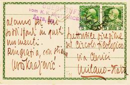 AUTRICHE, Entier Postal Avec Complément Concordant  Et  Censure Militaire En 1914 Pour Milan  TB - Entiers Postaux