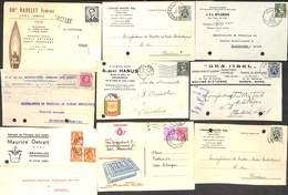 Entier Postal Carte Publicitaire - Petit Lot 39 Cartes (voir Scans) - Kilowaar (max. 999 Zegels)