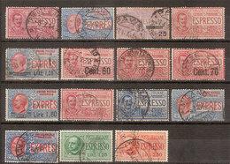 (Fb).Regno.V.E.III.Espressi.1900/44.Lotto Di14 Val Usati,uno Nuovo (211-18) - 1900-44 Victor Emmanuel III