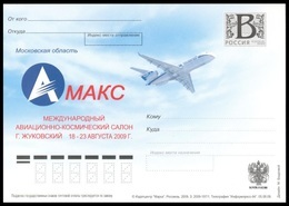 "RUSSIA 2009 ENTIER POSTCARD 197/1 Mint ZHUKOVSKY AVIATION SPACE ESPACE EXPOSITION ""MAKS"" EXHIBITION AIRPLANE TU TUPOLEV - Ganzsachen"