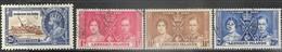 Leeward Islands  1935-7  Sc#98, 100-2  4 Diff  Used  2016 Scott Value $8.75 - Leeward  Islands