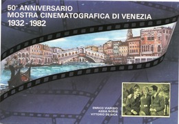 CT-03512- 50° ANNIVERSARIO MOSTRA CINEMATOGRAFICA DI VENEZIA 1932-1982-ENRICO VARISIO-ASSIA NORIS-VITTORIO DE SICA - Attori