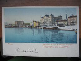 Croatia Fiume Rijeka Hafen Schiff Purger & Co. Cca. 1900 - Croatie