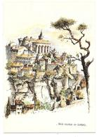 84 - VIEUX VILLAGE DE GORDES - Aquarelle Originale De Robert LEPINE - Ed. Yvon N° 15 00 7212 - Gordes