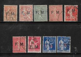 FM N°1 A 9 Oblitérés - Franchise Militaire (timbres)