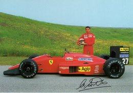 MOTOR RACING - AUTOMOBILISMO - CARTOLINA UFFICIALE FERRARI - MICHELE ALBORETO - N 595 - Grand Prix / F1