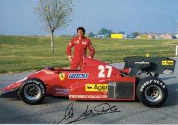 MOTOR RACING - AUTOMOBILISMO - CARTOLINA UFFICIALE FERRARI - MICHELE ALBORETO - N 596 - Grand Prix / F1