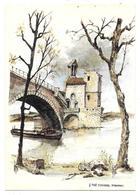 13 - LE PONT D'AVIGNON St BENAZET - Aquarelle Originale De Robert LEPINE - Ed. Yvon N° 15 00 7216 - Péniche - Avignon (Palais & Pont)