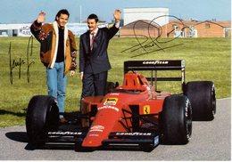 MOTOR RACING - AUTOMOBILISMO - CARTOLINA UFFICIALE FERRARI - G.BERGER E N.MANSELL - N 597 - Grand Prix / F1
