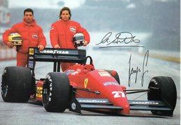 MOTOR RACING - AUTOMOBILISMO - CARTOLINA UFFICIALE FERRARI - M.ALBORETO E G.BERGER - N 599 - Grand Prix / F1