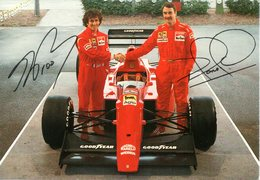 MOTOR RACING - AUTOMOBILISMO - CARTOLINA UFFICIALE FERRARI - A.PROST E N.MANSELL - N 600 - Grand Prix / F1
