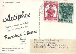 Vatican Carte Publicitaire Actiphos Sur Carte Taormina Il Duomo - Lettres & Documents
