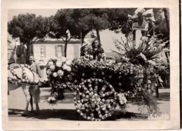 Bataille Des Fleurs Char Monaco Monte-Carlo C.1930 Gde Photo DETAILLE - LES BOUQUETIERES - Non Classés