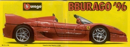 Catalogue Bburago 1996  Excel 1:18 Bijoux 1:24 Grand Prix 1:24  - En Italien - Catalogues & Prospectus