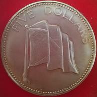 5 Dollars 1974, KM67, UNC - Bahamas