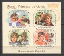 Mocambique 2011 Kleinbogen Mi 4702-4705 MNH PRINCESS DIANA - Familles Royales