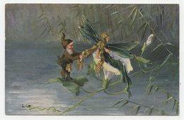CPA. Conte.lutin Coiffant La Princesse Libellule Sortant D'une Fleur.fée Des étangs      .E.79 - 1900-1949