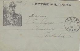 """Lettre Militaire """" Général GALLIENI """". - Guerre 1914-18"""