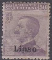 Italia Colonie Egeo Lipso 1912 50c. SaN°7 MNH/** Vedere Scansione - Aegean (Lipso)