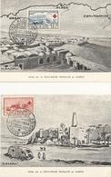 2 Cartes Philatéliques Premier Jour Croix Rouge Algérie 1952 YT 300 301 - Algeria (1924-1962)