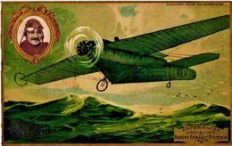 1 Postcard Pioneer Aviation Robert Esnault  Pilote C1908 Pub.LEFEVRE UTILE Biscuits - Litho  Experiences D'Aviation - Célébrités