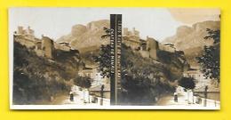Vues Stéréos Route De Monte Carlo Château De Monaco - Stereoscopic