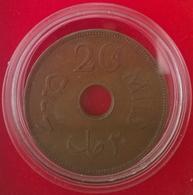 PALESTINE, 20 Mils 1942, KM5a, TTB+ - Coins