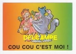 """DF / HUMOUR / CARTE COQUINE / LE LOUP ET LE CHAPERON ROUGE """" COU COU C' EST MOI ! """" - Humour"""