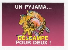 """DF / HUMOUR / CARTE COQUINE / ZÈBRES """" UN PYJAMA ... POUR DEUX ! """" - Humour"""