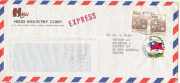 Taiwan Express Air Mail Cover Sent To Denmark 16-9-1986 Topic Stamps - 1945-... Republic Of China