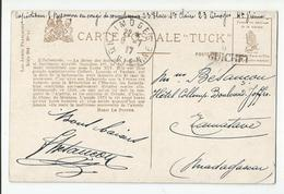 Marcophilie Cachet 87 Limoges 1917 Pour (griffe ) Guichet Hotel Collomp Tanatave  Madagascar, Congé Covalescence - Postmark Collection (Covers)