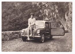 """AUTOMOBILE  """" FIAT 600 """" -  BICOLORE  - DONNA -  FOTO ORIGINALE 1963 - Automobili"""
