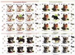 Romania 2011 - Faune - WILD CUBS - 4 Sheets + Label - Michel 185 Eur -  MNH - 1948-.... Republiken
