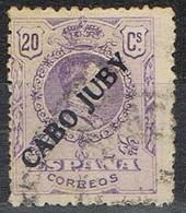 Sello Habilitados De Serie 1922, Alfonso XIII Medallon, Colonia CABO JUBY, Edifil Num 21 º - Cabo Juby