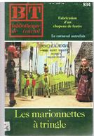 Les Marionnettes à Tringle Par HOUSEZ, GUILLEMIN & LEROUX Bibliothèque Du Travail N°423 Du 16 Mars 1983 - Marionnettes