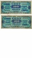 BILLET 100 FRANCS -FRANCE / 2 EMISSION IMPRESSION AMERICAINES, SERIE 3 A 8 , BON - Non Classificati