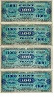 BILLET 100 FRANCS -FRANCE / 2 EMISSION IMPRESSION AMERICAINES, SERIE 3 A 8 , BON - 1871-1952 Gedurende De XXste In Omloop