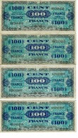 BILLET 100 FRANCS -FRANCE / 2 EMISSION IMPRESSION AMERICAINES, SERIE 3 A 8 , BON - 1871-1952 Antichi Franchi Circolanti Nel XX Secolo