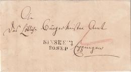 Baden / 1847 / Vorphila-Brief L2 SINSHEIM (AN37) - Deutschland