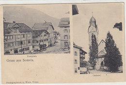 Gruss Aus Somvix - Postkutsche - 1906    (P-232-90921) - GR Grisons