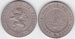LOT 024  BELGIQUE LEOPOLD  Ier  5 CENTIMES  1863 - 1831-1865: Leopold I