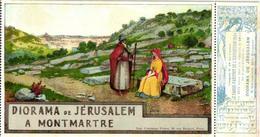 ART Anno 1900 LITHO POSTCARD, +ticket Entrée Expos RARES De L'exposition, Artist Guidi, DIORAMA De Jérusalem - Illustrateurs & Photographes