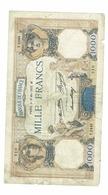 BILLET 1000 FRANCS -FRANCE / TYPE 1927  / BON - 1 000 F 1927-1940 ''Cérès E Mercure''