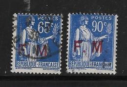 FM N°8 Et 9 Oblitéré - Franchise Stamps