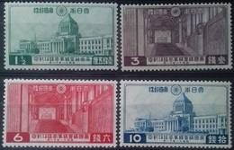 JAPON - JAPAN N° 234 à 237 COTE 54 € NEUF * MH . INAUGURATION DU NOUVEAU PALAIS DE LA DIETE IMPERIALE 1936 TB - Unused Stamps