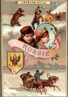 CHROMO BISCUIT LEFEVRE UTILE LU RUSSIE - Lu